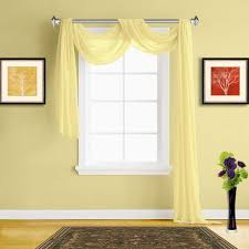 Scarf Curtains Warm Home Designs Lime Yellow Sheer Curtains Yellow Window Scarf