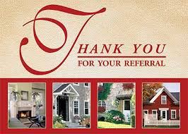 anniversary preprinted greeting cards referral thank you