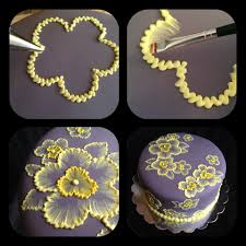 brush embroidery cake with yellow flowers cooking tips