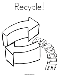 recycle coloring page twisty noodle