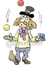 clowns juggling balls clown juggling balls royalty free clipart picture