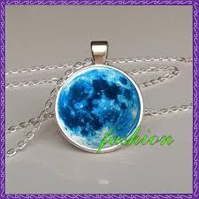 blue moon necklace images Online shop perfect gift full moon pendant full moon necklace jpg
