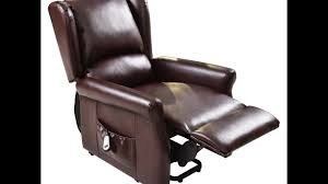 Lift Chair Leather Electric Lift Chair Remote Control Recliner Youtube