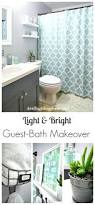 40 easy diys that will instantly upgrade your home tub shower corner bath shower curtain rod bath shower curtain ideas light bright guest bathroom makeover the reveal