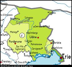 udine italy map map of friuli venezia giuli map friuli venezia giuli italy