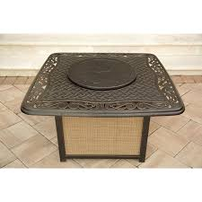 Rectangle Fire Pit Table Traditions 4 Piece Chat Set With A Cast Top Fire Pit Traditions4pcfp