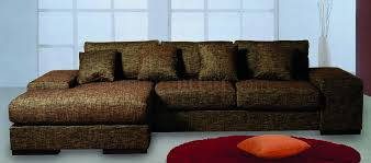 Upholstery Sectional Sofa Chocolate Fabric Upholstery Sectional Sofa