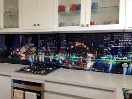 Led Backsplash Cost by Kitchen Glass Backsplash With Digital Printing Made Of Tempered