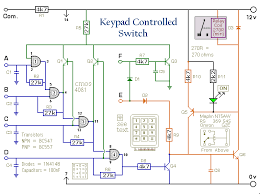 how to build a 4 digit keypad controlled switch circuit diagram