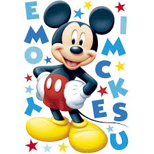 decofun mickey mouse maxi sticker room decorations wall stickers details