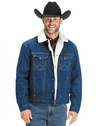 wrangler men u0027s sherpa lined denim jacket