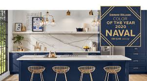 best sherwin williams paint color kitchen cabinets sherwin williams 2020 color of the year naval