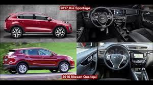 qashqai nissan 2017 2017 kia sportage vs 2016 nissan qashqai design youtube
