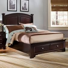 King Storage Bed Frame Vaughan Bassett Hamilton Franklin Full Panel Storage Bed Wayside