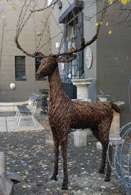 Outdoor Grapevine Reindeer Christmas Decorations by Grapevine Deer Dirt Simple