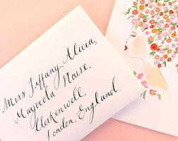 calligraphy cards etsy