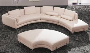 Leather Sectional Sofa Bed by Divani Casa A94 Leather Sectional Sofa U0026 Ottoman In Beige Free