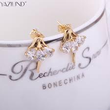earrings for school yazilind women s fashion tiny ballet dancer stud earrings