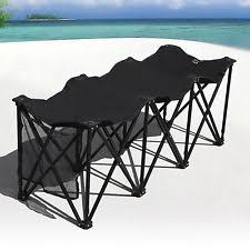 Portable Sports Bench Strong Camel Folding Portable Team Sports Black Sideline Bench 6