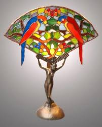 stained glass light fixtures home depot stained glass ls twin parrots fan l on art lady base stained
