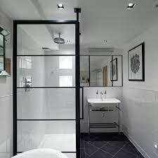 monochrome bathroom ideas crittall shower bathroom ideas photos houzz