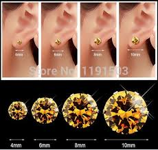 diamond stud sizes diamond stud earring size stud earrings references