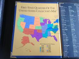 State Quarters Map by First State Quarters Of The United States Collectors Map Folder