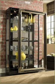 small wall curio cabinet with glass doors best home furniture