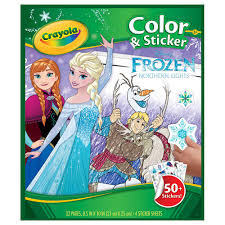 crayola colour u0026 sticker book disney frozen u003e toys