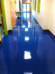 blue waxed floor smartdog commercial cleaning
