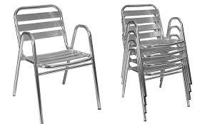 chaise jardin aluminium chaise de jardin en métal oviala