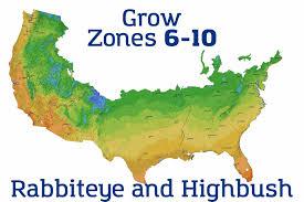 Usda Map Blueberry Zoning Map U2013 Grow Organic Blueberries