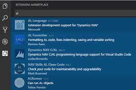 vs code u201cal u201d extensions part i microsoft dynamics nav community