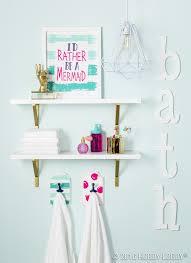 add a splash of color to your everyday bathroom decor diy home