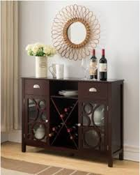 console table with wine storage don t miss this deal on dark cherry wood contemporary wine rack