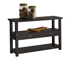 furniture wooden console tables with shelves and two drawer