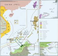 South China Sea Map by Spratly Islands