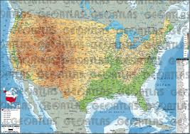 United States Of America Map by Geoatlas United States And Canada United States Of America