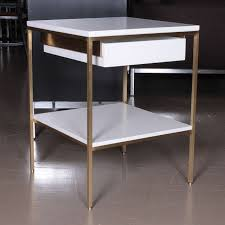 Bed Side Tables by Regeneration Lacquer And Brass Bedside Tables For Sale At 1stdibs