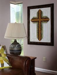 cross quilt pattern log cabin christian cross wall