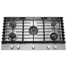 30 Inch 5 Burner Gas Cooktop Kitchenaid 36 In Gas Cooktop In Stainless Steel With 5 Burners