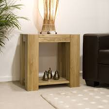 Sofa Table Oak by Padova Solid Chunky Oak Furniture Lamp Sofa Side End Table Ebay