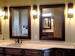 Framed Bathroom Mirror Ideas Phenomenal Wooden Bathroom Mirror Ideas Framed Bathroom Mirrors