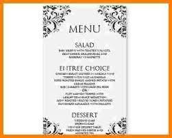 8 menu templates free download word sample of invoice