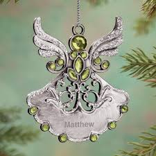 personalized birthstone ornaments personalized birthstone angel pewter ornament kimball