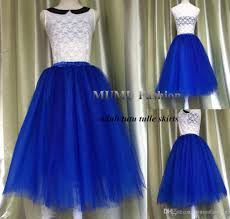 royal blue tulle 2017 hot sale royal blue tulle tutu skirt 6 layers party