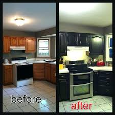 staining kitchen cabinets before and after black stained kitchen cabinets vojnik info