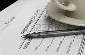 Job Application With Resume by Blank Employment Application With Resume Pen And Coffee On Desk