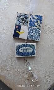 portugal antique azulejo tile replica majolica necklace saudade