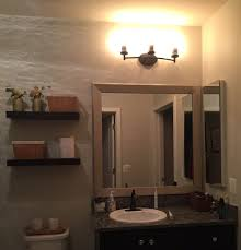 Framing Bathroom Mirror by Attaching The Frame To Your Mirror